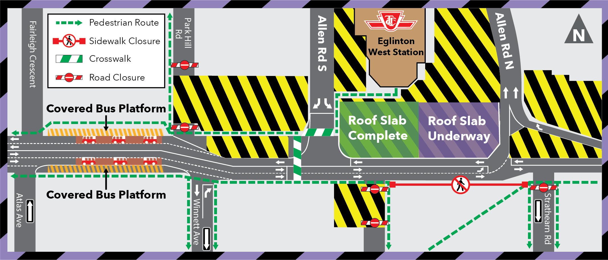 Eglinton West Station Bus Loop Closure: Extended to Late Fall 2020