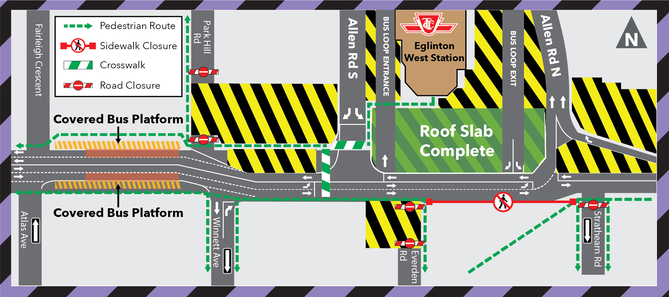 Eglinton West Station Bus Loop Re-opening December 20, 2020