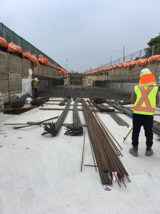 Invert Concrete Pour at East Don Mills Portal