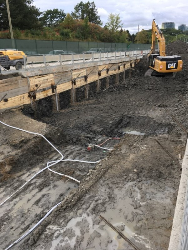 Excavation work at West Don Mills Portal
