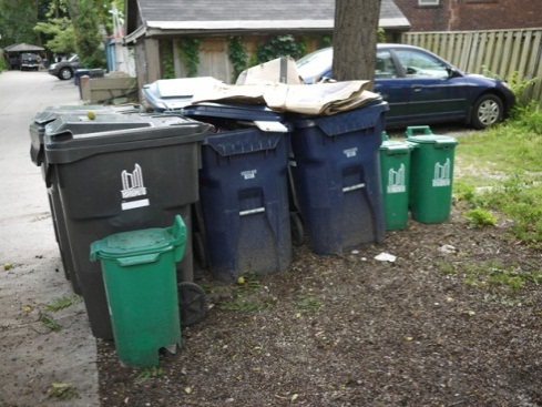 Image of garbage cans