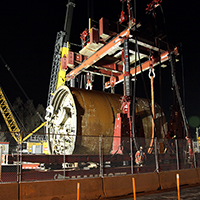 Tunnel Boring Machine move April 17-18