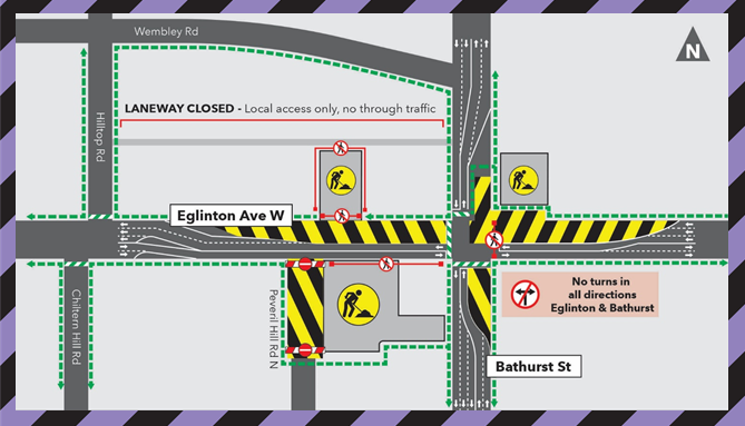 Laneway Closure during Concrete Pour at Forest Hill Station Aug 26