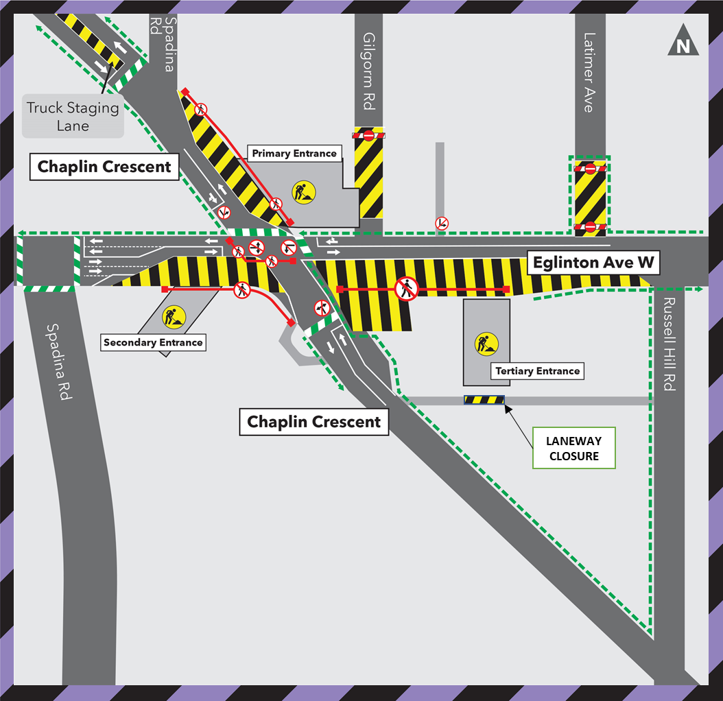 Laneway Closure at Chaplin Station December 2020 to February 2021
