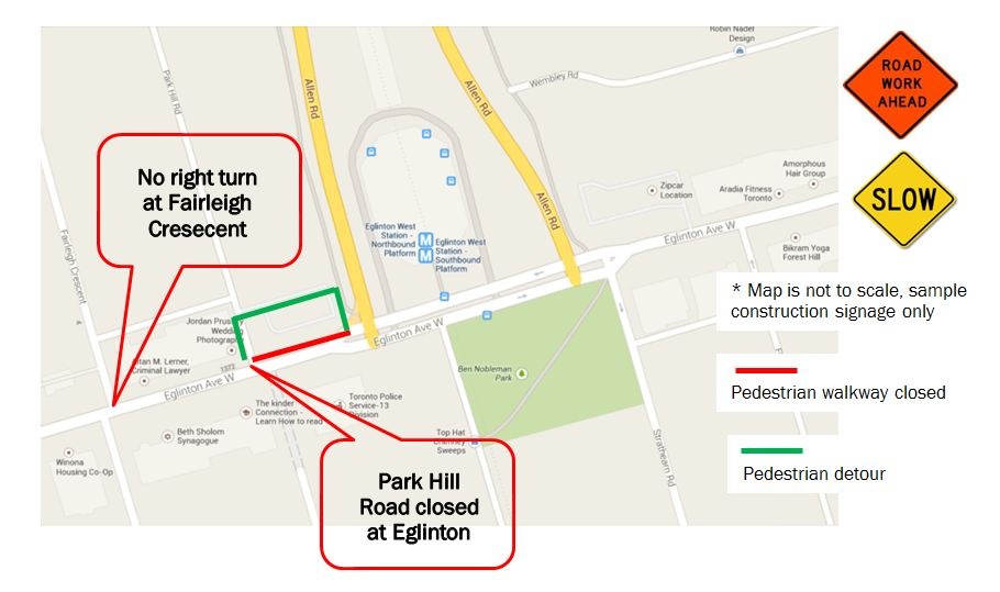 Park Hill map road closure