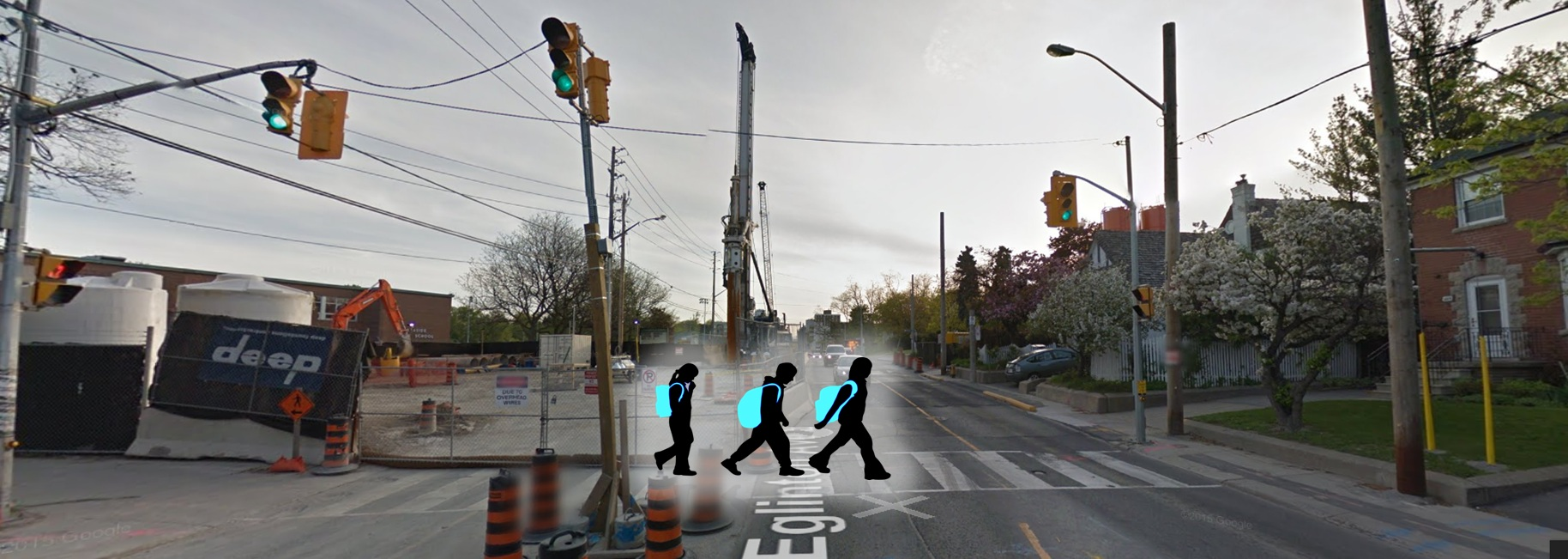 Pedestrian crossing image