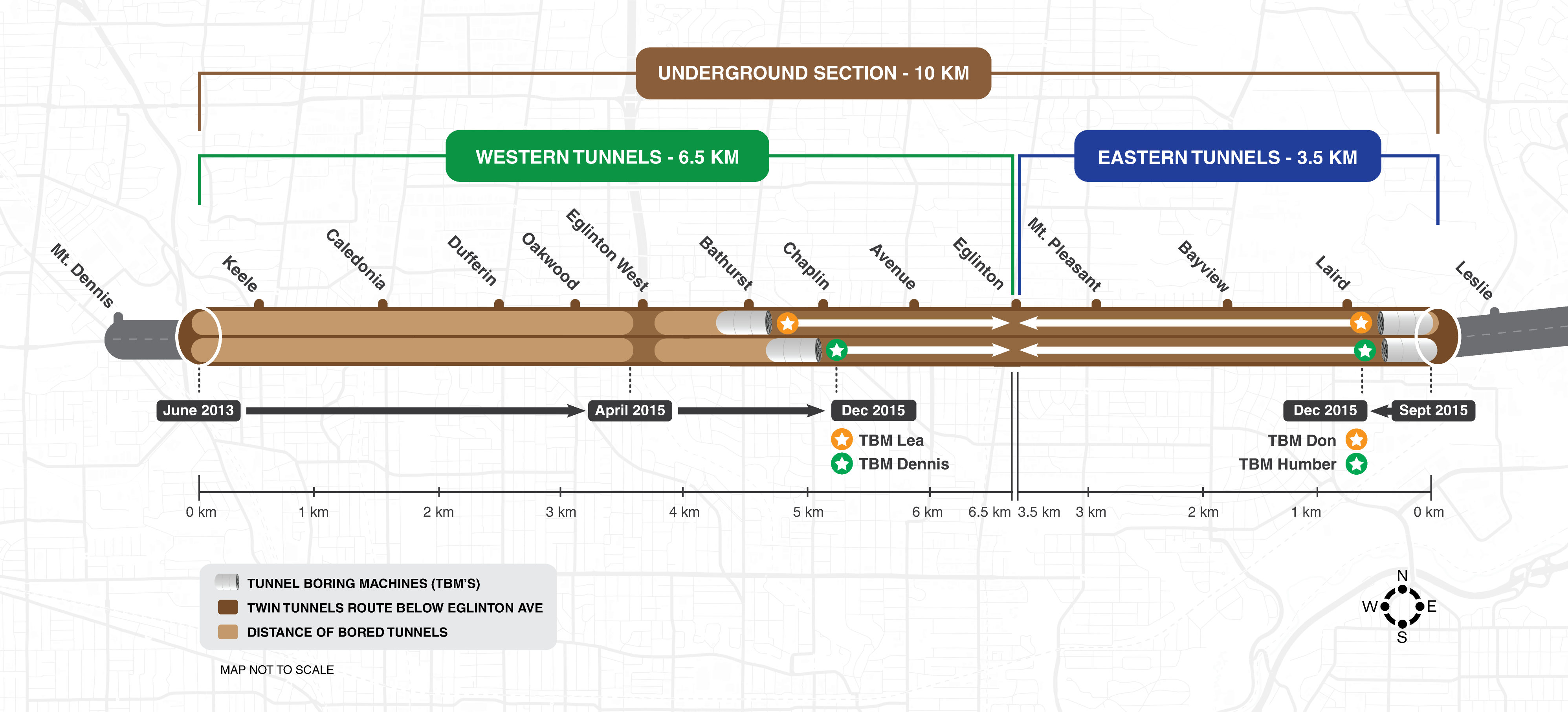 TBM route map