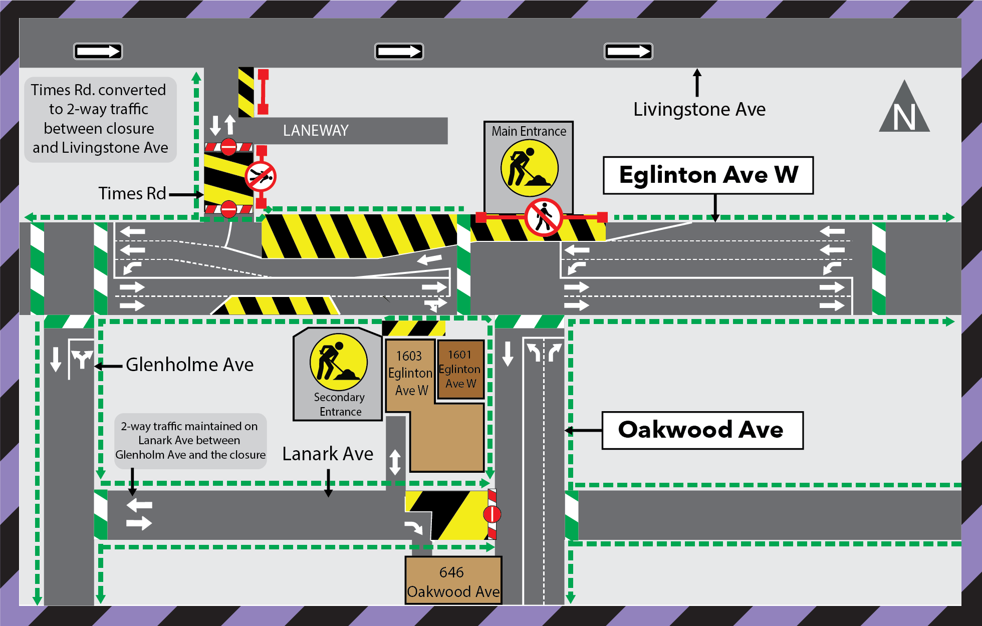 Update: Laydown Areas at Times Road and Lanark Avenue at Oakwood Station
