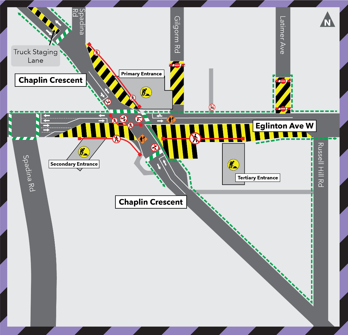 Overnight Utility Works at Eglinton Avenue West and Chaplin Crescent
